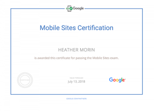 google-mobile-sites-certification