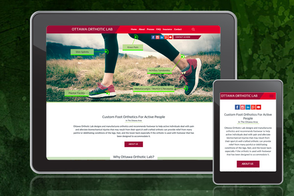 Orthotic Web Design Services