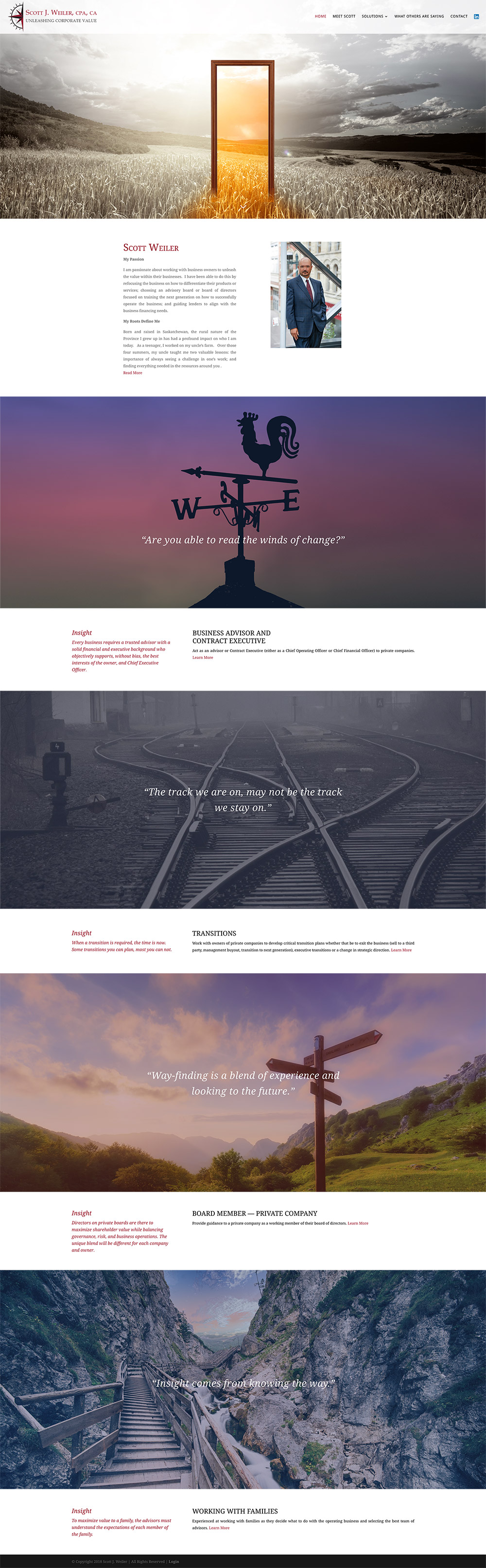 Website for Corporate Consultant